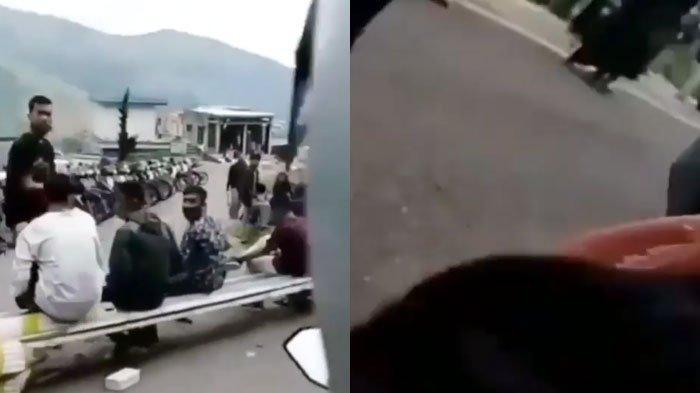VIRAL Video 2 Wanita Ketawa-ketawa Teriak 'Tarik Sis' ke Gerombolan Pemuda, Malah Jatuh dari Motor
