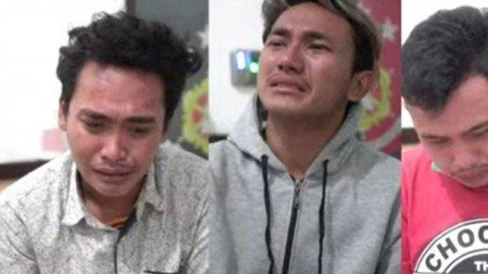VIRAL Video 3 Pemuda Penghina Satgas Covid-19 Nangis Kejer di Kantor Polisi, Sesali Perbuatannya