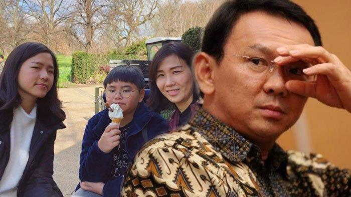 Ahok dan Veronica Tan serta Nathania Purnama dan Daud Albeneer Purnama