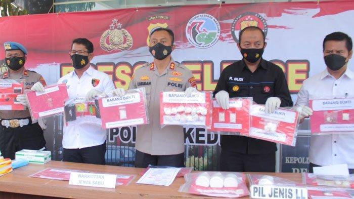 Operasi Tumpas Narkoba Semeru 2021, Polres Kediri Berhasil Bekuk 32 Tersangka dan Amankan Ribuan Pil