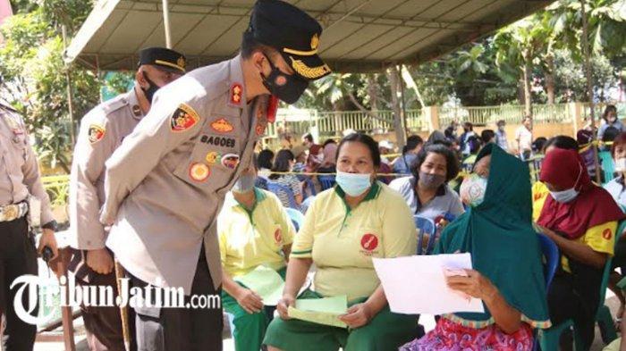 Polres Malang Kawal Penyuntikan 5.000 Dosis Vaksin Covid-19 untuk Masyarakat Kecamatan Pakisaji