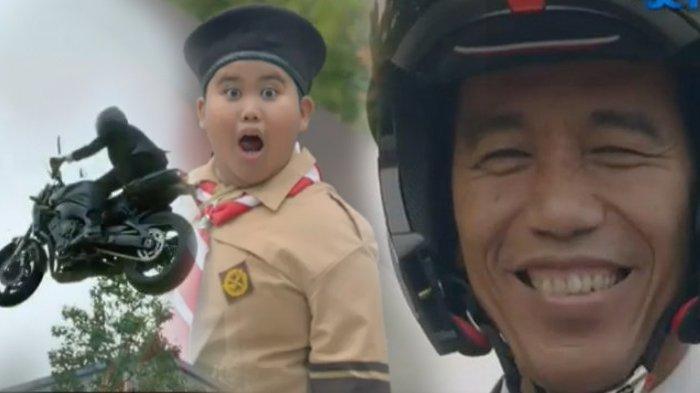 Kabar Terkini Fairel, Bocah Viral Melongo Lihat Jokowi Naik Moge di Video Pembukaan Asian Games 2018