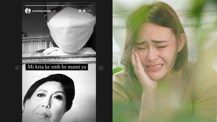 Kondisi Amanda Manopo Antar Jenazah Ibu, Mata Sembab Gandeng Ayah: Tunggu Mami, Arya Saloka Berduka