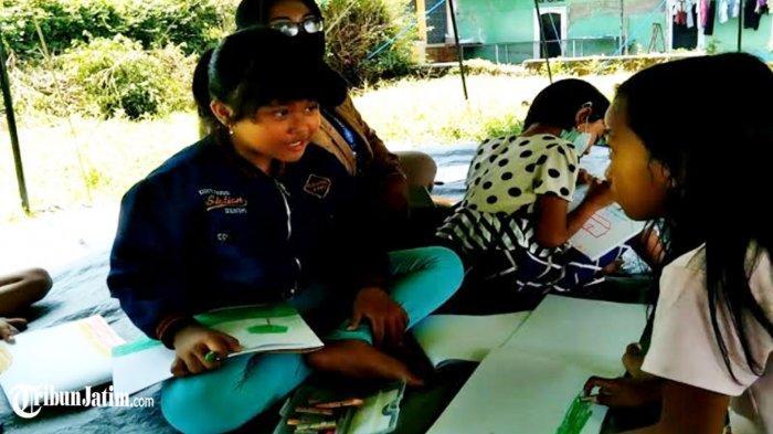 Anak-anak Terdampak Gempa di Dampit Masih Merasakan Takut, Jalani Trauma Healing di Pengungsian