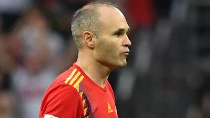 Usai Kalah dari Rusia di Piala Dunia 2018, Andres Iniesta Nyatakan Pensiun dari Timnas Spanyol