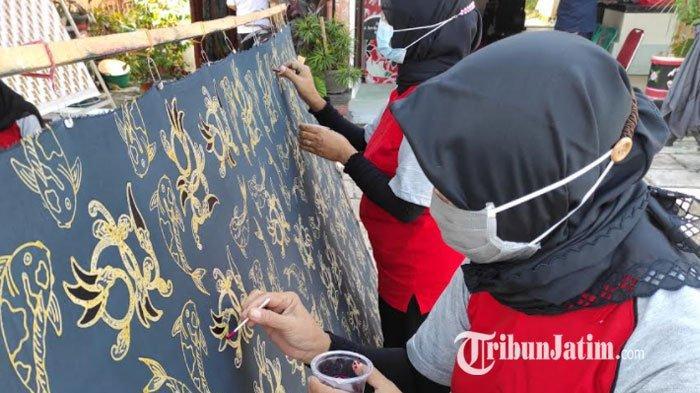 Jatuh Bangun Kelompok Batik Kembang Turi Kota Blitar Bertahan di Tengah Pandemi