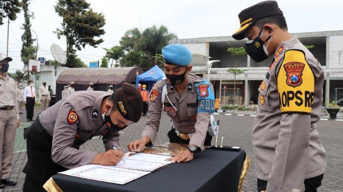 Semua Anggota Polres Batu Tandatangan Komitmen Siap Dipecat Tidak Hormat jika Gunakan Narkotika