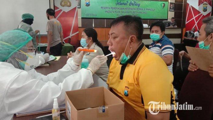 Pastikan Personel Sehat, 367 Anggota Polresta Malang Kota dan Jajaran Lakukan Pemeriksaan Kesehatan