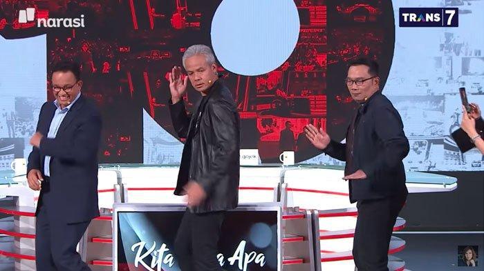 Ganjar Pranowo, Anies Baswedan, Ridwan Kamil Joget Tik Tok 'Any Song' dari Zico, Jago Semua?