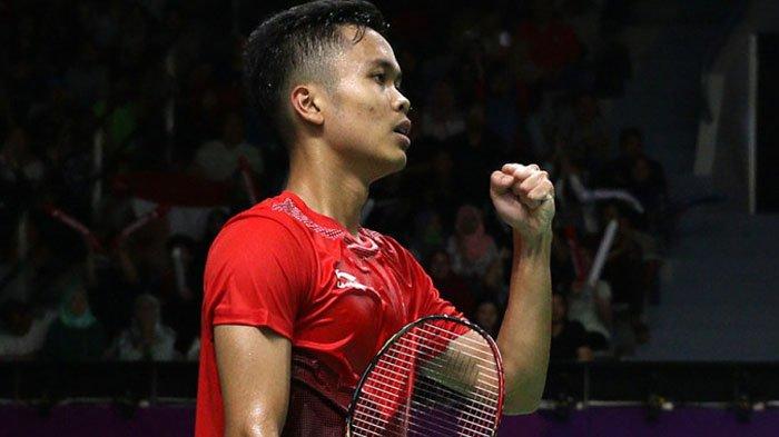 Lawan China di Tengah Cedera, Anthony Hampir Bawa Unggul Indonesia di Partai Final Badminton
