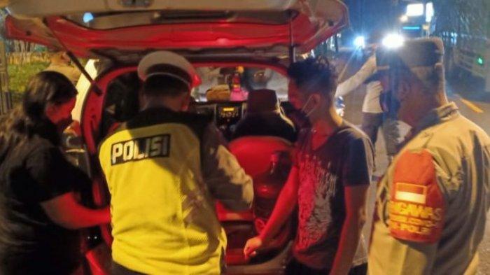 Empat Polsek Gelar Razia Antisipasi Kriminalitas di Wilayah Perbatasan Gresik Selatan
