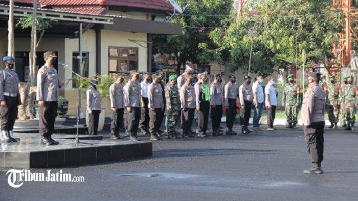 Meledak Covid-19 di Bangkalan, Petugas Gabungan di Sampang Antisipasi dengan Rapatkan Barisan