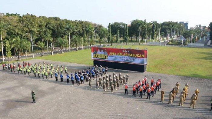Apel Gelar Pasukan Antisipasi Peningkatan Pandemi Covid-19 di Jawa Timur