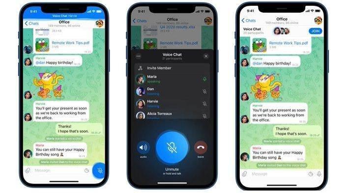 Fitur Baru dari Telegram, Pengguna Kini Bisa Voice Chat dalam Grup Mirip Discord, Berikut Caranya