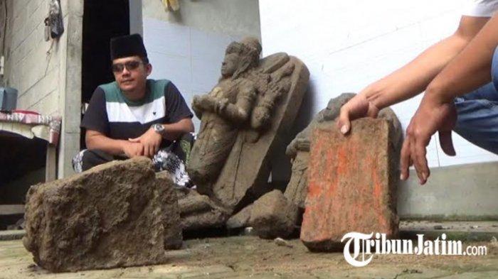 2 Arca Mirip Dewa Siwa Ditemukan di Belakang Ponpes Gus Akhsin, Diserahkan ke BPCB Tulungagung