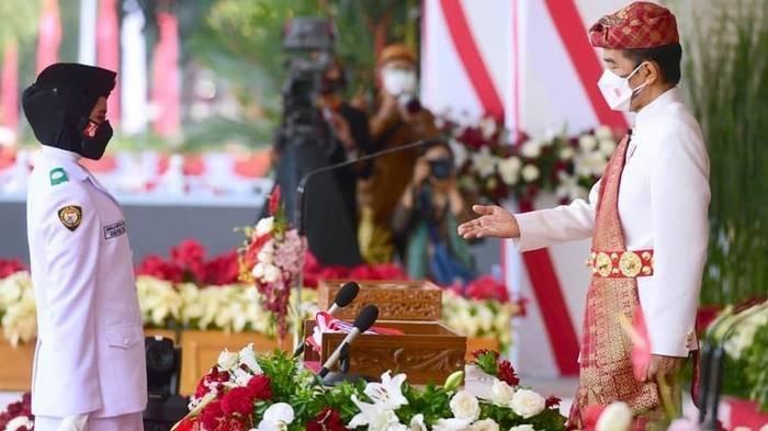 Sosok Ardelia Muthia Zahwa, Pembawa Baki Bendera Upacara HUT RI 17 Agustus 2021, Asal Sumatera Utara