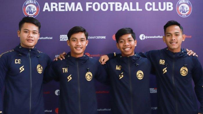 Resmi, Arema FC Perkenalkan 4 Pemain Anyar Jebolan Akademi Arema, Ini Sosoknya