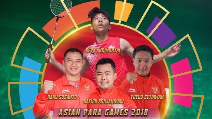 Beregu Putra Badminton Raih Medali Emas Pertama Asian Para Games 2018, Menpora Beri Pelukan Hangat