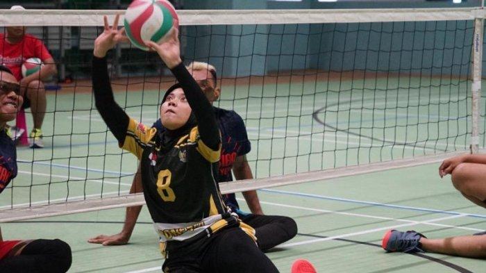 Hari Pertama Asian Para Games 2018, Tim Voli Duduk Putri Indonesia Kalahkan Mongolia 3 Set Langsung