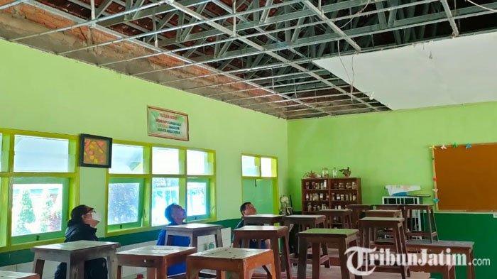 Atap Ruangan Laboratorium Biologi SMAN 2 Batu Runtuh, Kepala Sekolah Beri Penjelasan