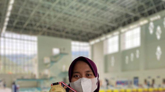 Atlet Selam Asal Kota Batu Nafa Amadea Raih Emas di PON XX Papua 2021