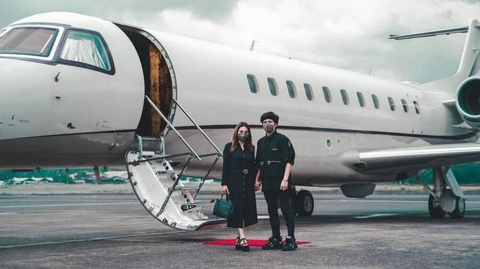 Atta Halilintar dan Aurel Hermansyah on the way honeymoon.