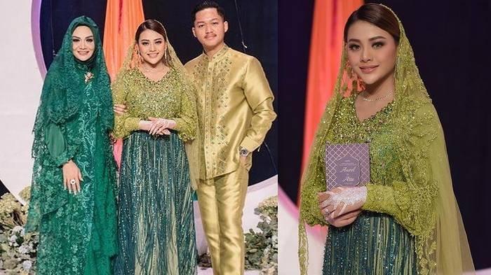 Aurel Hermansyah posting foto acara pengajian bersama Krisdayanti dan Azriel Hermansyah.