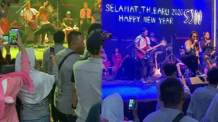 Bawakan Lagu 'Cendol Dawet', Ayu Ting Ting Goyang di Depan Wakil Walikota Depok di Malam Tahun Baru
