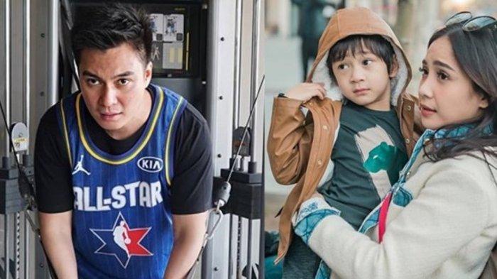 Baim Wong kolase foto dengan Nagita dan Rafathar saat berlibur bersama di luar negeri.