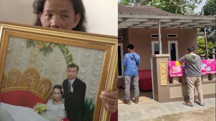 (baju putih) Potret korban Sriwijaya Air jatuh yang rumahnya dimaling. Begini kondisi rumahnya.