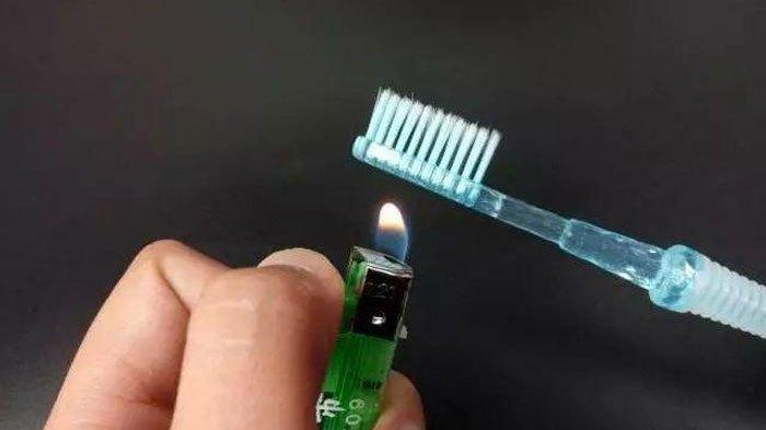 Jangan Dibuang, Bakar Sedikit Bagian Ujung Sikat Gigi Bekas untuk Menggunakannya secara Ajaib!