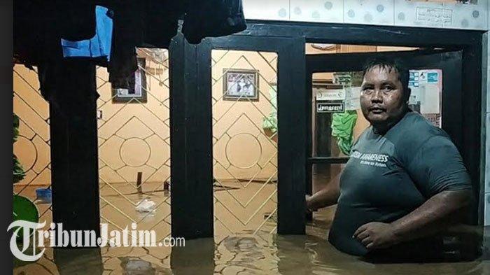 Banjir Rendam Pemukiman Kota Pasuruan, Terparah diPetamanan: Air Setinggi Dada Orang Dewasa