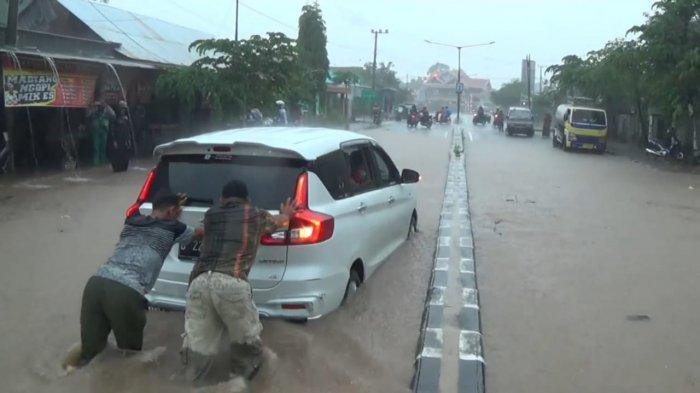 Hujan deras, Sejumlah Kawasan si Magetan Dilanda Banjir