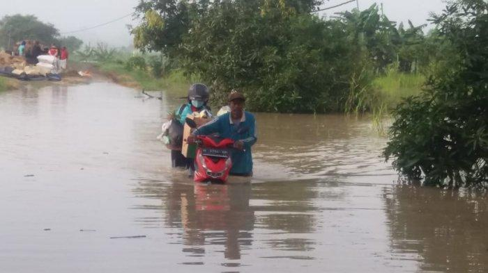 Banjir Luapan Kali Lamong Rendam 11 Desa di Gresik