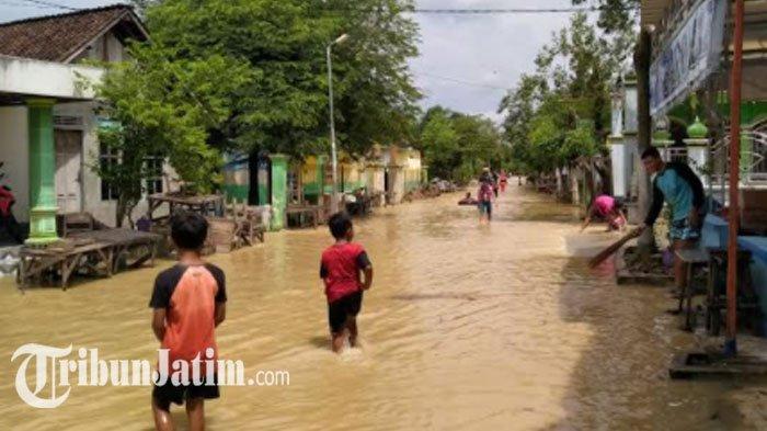 9 Desa di Tuban Terdampak Luapan Kali Kening, 132 Hektar Sawah Tanaman Padi Terendam