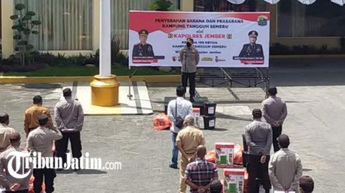 Polres Jember Kirim Paket Bantuan untuk Pengelola Kampung Tangguh Semeru, Dukung Pencegahan Covid-19