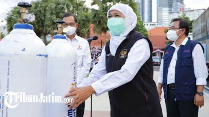 Kadin Indonesia Serahkan 41 Ton Oksigen Cair ke Pemprov Jatim, Gotong Royong Tangani Covid-19