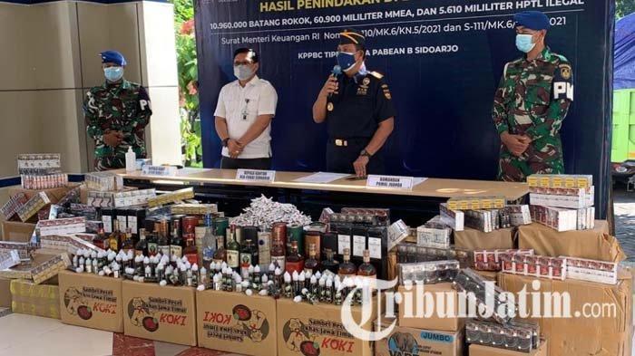 Bisnis Rokok Ilegal Masih Marak di Sidoarjo, Rugikan Negara Sampai Rp 4,9 Miliar