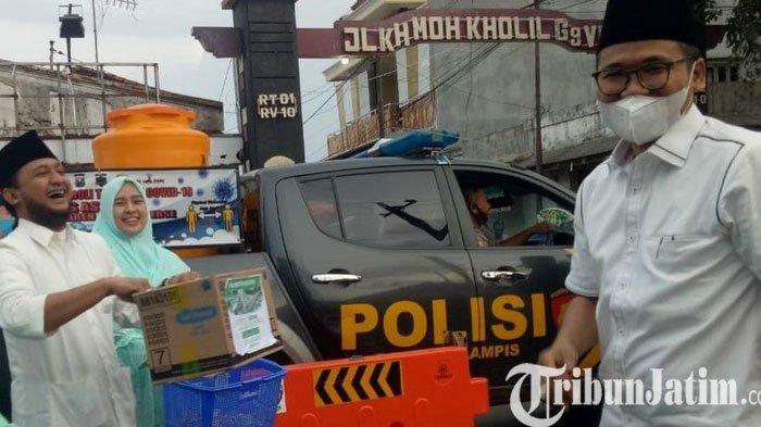 Bupati Bangkalan Donasikan Uang dan 50 Sarung Korban Banjir Kalsel, Ponpes Syaichona Buka Posko