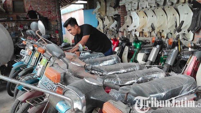 Dari Hobi Vespa, Pemuda di Kota Blitar Jadi Kolekdol Sepeda Motor Lawas Beromzet Puluhan Juta