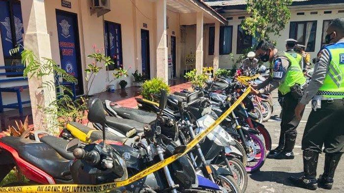 Marak Balap Liar, Polres Bondowoso Jaring Puluhan Motor