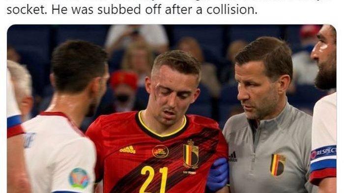 Insiden Horor di Laga Grup B Euro 2020: Eriksen Kolaps, Bek Kanan Belgia Patah Tulang Rongga Mata