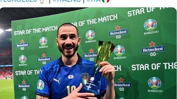 Jadi Pencetak Gol Tertua, Leonardo Bonucci Sabet Man of the Match Final Euro 2020