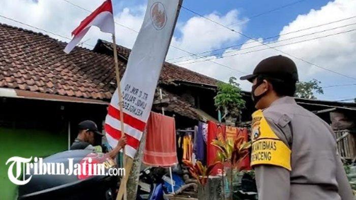 Sambut HUT Kemerdekaan Ke-76, Polres Blitar Kota Bagikan 1.945 Bendera Merah Putih untuk Warga