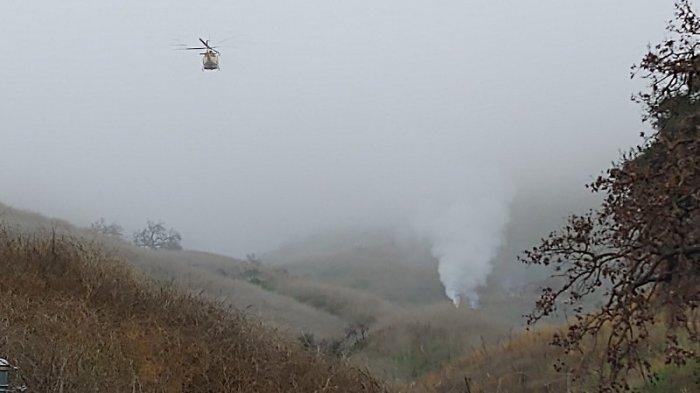 Beredar Video Diduga Jatuhnya Helikopter yang Ditumpangi Kobe Bryant, Sempat Hilang Kendali