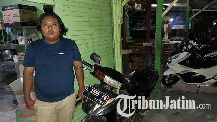 Berhasil Gasak Motor Matic, Pencuri Ini Tinggalkan Motor Butut di Warung