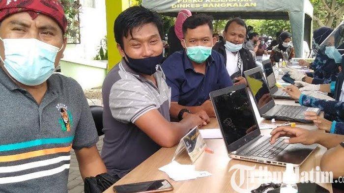 Jelang Vaksinasi Sejumlah Wartawan di Bangkalan Mendadak Demam,  Hanya Terpakai 37 Sasaran