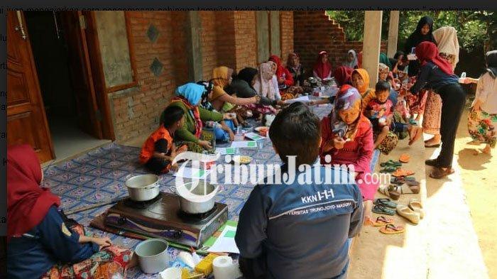 KKN Mahasiswa UTM Ciptakan Keripik Biji Durian di Kecamatan Geger Bangkalan Madura