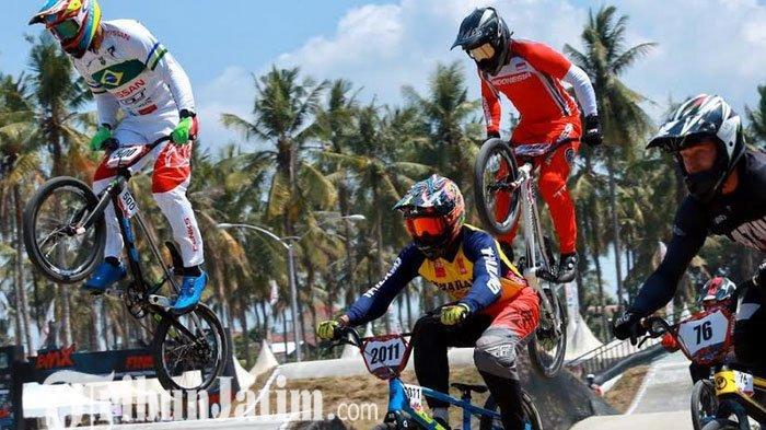 Puji Atmosfer Pertandingan di Banyuwangi, Isidore Juara BMX Hari Pertama