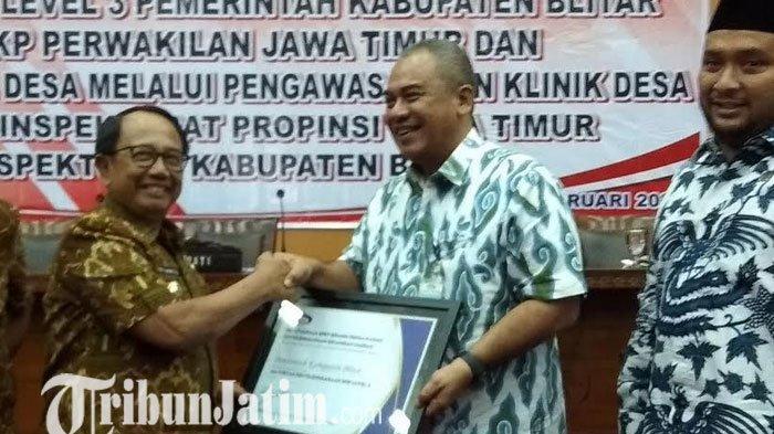 Bupati Blitar Rijanto Terima Penghargaan Maturitas SPIP Level 3 Dari BPKP Jatim